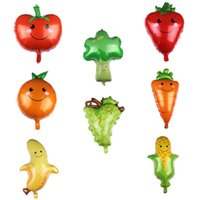 Summer Fruit and Vegetable Shaped Aluminum Film Balloons Wedding Birthday Party Children's Cartoon Balloon Gifts