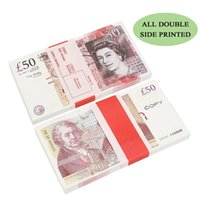Funny Toy Paper Printed Money Toys Uk Pounds GBP British 10 20 50 commemorative For Kids Christmas Gifts or Video Film