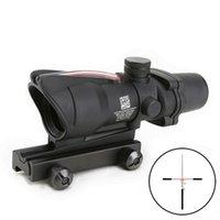 Trijicon Scope ACOG 4X32 Style Real Fiber Optic Red or Green Illuminated Sight