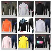 top 2021 kids football jacket set soccer training suit pink 2022 children Long zipper Maglietta da calcio tuta jogging tracksuit kit