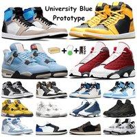 Hyper Royal Men Basketball Shoes 1 1s University Blue Dark Mocha Shadow 2.0 Prototype Pollen 4s White Oreo DIY 13s Red Flint Black Cat Women sneakers Sports Trainers