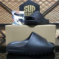 Top Quality Slides Graffiti Bone Resin Desert Sandy Rubber Slippers Summer Brown Flat Men Women Beach Foam Runner Sandals with box Size 36-45