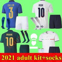 2021 Adult kits Men Italy Soccer Jerseys 20 21 Home away 3rd buffon PIRLO ZAZA De Rossi Bonucci Verratti football shirt