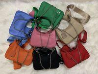 2005 Sale 3 piece set women crossbody bag Shoulder Bags Genuine Nylon handbags purses lady tote Coin Purse three item