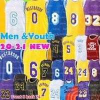 Los Carmelo 7 Anthony Jersey 8 24 Angeles 3 Davis 6 Basketball Jerseys Russell 0 Westbrook 23 Black Gold White Purple Men kid Youth Mamba Talen 5 Horton-Tucker 2021 2022