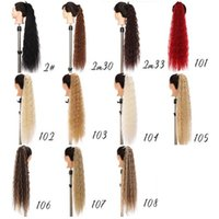 32 Inches Deep Wave Synthetic Clip in Ponytail Exentions Grip Ponytails Simulation Human Hair Extensions Bundles AS-32PO
