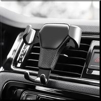 Automatic Locking Gravity Universal Air Vent GPS Cell Phone Holder Car Mount Stand Grille Buckle Type Compatible with All Apple iPhone Android Smartphone
