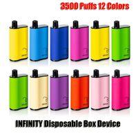 INFINITY Disposable E cigarettes Box Mod Kit 3500 Puffs 1500mAh Battery 12ml Prefilled Cartridge Pod Vape Pen Vs Air Bar Max Flex
