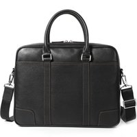 Genuine Leather Men's Briefcase Handbag laptop Bag Cross Section Men's Computer Bag Business Affairs Bags#301