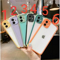Armor Cases Transparent Cover Hard PC Back Shockproof for iPhone12 mini pro max 11 XR XS 8 Samsung S20 S10 note20 Ultra plus A11 A21 M20 LG MOTO HUAWEI XIAOMI VIVO OPPO