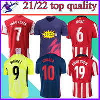 21 22 Soccer Jerseys JOAO FELIX SUAREZ KOKE Madrid 2021 2022 camisetas de fútbol short sleeves fooball shirt size:16-4XL