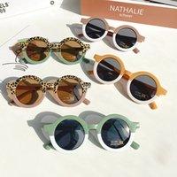 Lovely Kids Sunglasses Sunblock Bear Shape Frame Girls Children Sun Glasses Round Street Beat Baby Boy Eyeglasses Cute Shades