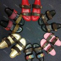 Men Luxury slides slippers Fashion flip flops women sandal Floral brocade men slipper Gear bottoms women striped Beach causal slippers S85