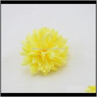 Discount bride shoes designer Decorative Flowers Wreaths 5Pcs Artificial Silk Bride Holding Chrysanthemum Diy Shoes Wedding Ball Gift Box Decoration Fake Flower Wmt Trysz