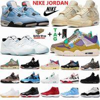 Air jordan 4 Mens Basketball Shoes University Blue Off Legend White Sail Bred Jumpman Retro 4s Sneakers 11 11s 30th Anniversary Desert Moss Womens Sports Trainers 3