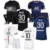 21 22 MESSI SERGIO RAMOS HAKIMI Thai soccer jersey MBAPPE VERRATTI MARQUINHOS KIMPEMBE DI MARIA KEAN football Jersey soccer tops men shirt and sets kids adult kit