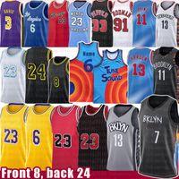 7 Kyrie 11 Kevin Irving 13 Harden Durant Los 23 6 Angeles Basketball Jersey MJ Scottie 8 Dennis Biggie Pippen Rodman Anthony Kyle Davis Kuzma Movie Space Jam Tune Squad