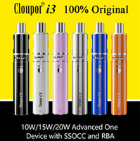Wholesale Mini I3 - 100% Original Cloupor i3 Kit Vaporizer Kit E Cigarette Kits VW Mini Vape Mods OCC RBA Coil Electronic Cigarettes Free Shipping