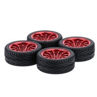 Wholesale New Electric Car Tires - 4Pcs New Run flat Car Tires Hard wheel for 1 10 Traxxas HSP Tamiya HPI Kyosho On-Road RC Car Parts