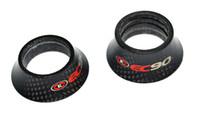 bisiklet kulaklığı yıkayıcı toptan satış-EC90 karbon fiber bisiklet parçaları kulaklık spacer mtb bisiklet yıkama üst kapağı yol bisiklet çatal kapak 1 1/8 '' 8.5 20 30 40mm