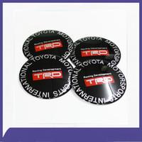 Wholesale Trd Wheel Stickers - Hot Sales!4pcs set 65mm Car Auto Wheel Center Hub Caps Emblem Decal Badge Sticker for TRD Free shipping