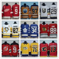 Wholesale Andre Blue - 2017 New Season Men's American AD Authentic Player Men's Ice Hockey Jerseys 87 sidney crosby 88 Patrick kane 29 Marc-ANDRE FLEURY