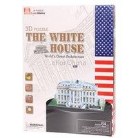 Wholesale 3d Puzzle Card Models - Wholesale-3D Puzzle The White House Model Card Kit (64pcs)