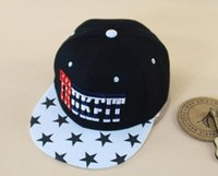 Wholesale Korean Stars Cap - 2015 New Arrival TRUKFIT Korean Caps Hip-hop Hats Spring Star Letter Style Canvas Pattern 4 Mix Colors