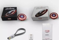 Power Bank 6800 mAh Captain America Power bank Dual USB ladegerät für smart handy 6800 mah Universelle Tragbare externe batterie