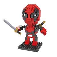 Wholesale Plastic Skull Figures - Mini Action figure Super Hero 4 styles Ninja Deadpool Arrow Oliver Queen Red Skull DIY building blocks Present Gift toys for boy