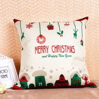 Wholesale Hotel Brand Pillows - muchun Brand Thicken Pillow Case 2017 New Arrival 45*45cm Colorful Christmas Linen Home Textiles Decorative Pillow Cover