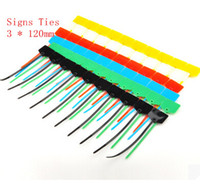 Wholesale Cable Markers - Sign tie tag marker tie tag seal nylon cable ties (3 * 120 mm   100)