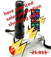 Wholesale Promotions Items - year-end sales promotion item Colorshine LED RGB Color Changing Torch Flashlight,3W Aluminium Alloy RGB Edison Multi color led flashlight
