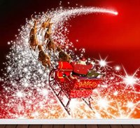 Wholesale Vinyl Scenic Background - Santa Claus Christmas Vinyl Spray Backdrop Computer Printed Photography Studio Background Camera Photos Backdrop Digital Backgrounds Cloth