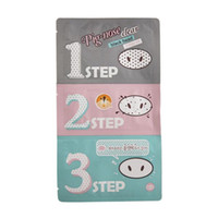 Wholesale Cosmetic Acne Treatment - Pig Nose Mask Blackhead Remover Nose Mask Three-step Kit Deep Cleanser Korean Cosmetics Face Nose Treatment Mask