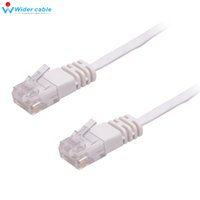 Wholesale Patch Cable Wiring - High Speed Cable Cat6 RJ45 Lead 5m White Ultra-Thin Flat Patch Network Internet Cat.6 UTP Wire Free Shipping