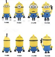Wholesale Despicable Usb Flash Drive - Hot selling real USB2.0 Flash Drive USB stick novelty cartoon Minions Despicable Me 2GB 4GB 8GB 16GB 32GB 64GB 128GB 256GB
