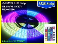 Wholesale Led Meter Roll - 100M 20 rolls Led Strip Light 3528 SMD 300Led Waterproof IP65 100 meter led ribbon on sales Christmas Gifts DHL FedEx Free Shipping
