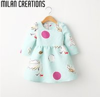 Wholesale 2016 New Girls Winter Dress Baby Girls Dress Princess Animal Pattern Dobby Kids Dresses for Girls Clothes Christmas Dress