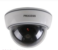 Wholesale Dome Cctv Ccd Security Camera - 2015 New Dummy Fake Surveillance CCTV Security Dome Camera OutdoorFlashing Red LED Light