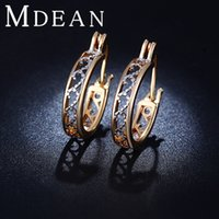 Wholesale Earings Hoops Gold - New style 18K Gold Plated earring Exquisite Wedding Jewelry earings Earrings For Women Free Shipping ME029