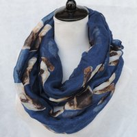 Wholesale Dog Scarf Shipping Free - Hot sale 2015 Free Shipping NEW Cute Pug Dog Printed Infinity Loop Scarf Women Accessories Best Gift