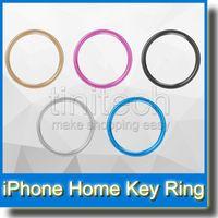 iphone sensör çıkartması toptan satış-Dokunmatik KIMLIK Düğmesi Ev Anahtar Alüminyum Metal Halka Düğmeler Sticker Koruyucu Parmak İzi Sensörü ile Parmak Baskı iphone 5 s 6 Artı Renkli