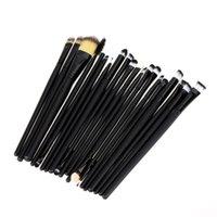 Wholesale Aluminum Alloy Wood - Wood aluminum alloy nylon hair Make up Brushes Tools 20PCS Makeup Brush Kit Foundaton Eyeshadow Eyebrow Mascara Lip Brushes