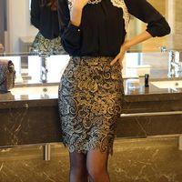 Wholesale Korean Slim Skirt - 2014 new fashion korean OL style temperament slim lace pencil skirt,sexy autumn spring high waist skirts Slim Hip Skirt 10
