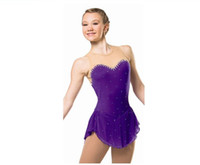 Wholesale Dress Figure Skate - Women Ice Figure Skating Dresses With Spandex Beautiful New Brand Figure Skating Competition Dress HB2570