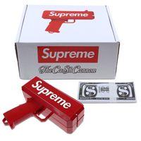 Wholesale Games Money - Super Money Launch Gun Cash Cannon Gun In Box Toy Gift Make it rain Party Game Free Shipping