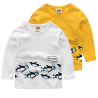 pinguin oben großhandel-Kinder Kleidung Pinguin T-Shirts für Mädchen Kinder Kleidung Jungen T-Shirt Mädchen Kleidung Jungen Hemden Top Mädchen Kleidung weiche Kleidung Jungen Hemden