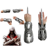 Wholesale Assassins Creed Ezio Cosplay - High Quality NECA Assassins Creed Hidden Blade Brotherhood Ezio Auditore Gauntlet Replica Cosplay Christmas Gift with Original box