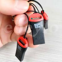 Wholesale Micro Sd Flash Card 16gb - USB TF Card Reader USB 2.0 Micro SD T-Flash TF M2 Memory Card Reader High Speed Adapter for 4GB 16GB 64GB TFCard
